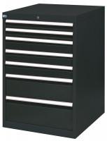 Schubfachschrank MAXTEC stationär, 2 x 75 , 3 x 100 , 1 x 200 , 1 x 250 mm Vollauszug 100%, 180 kg / Enzianblau RAL 5010