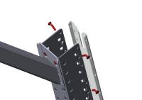 Aufbausäulen-Deckel MULTIPLAN Lichtgrau RAL 7035 / 720