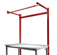 Stahl-Aufbauportale mit Ausleger Grundeinheit Spezial/Ergo Rubinrot RAL 3003 / 1250