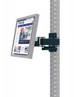 Monitorträger für MULTIPLAN / PROFIPLAN, Doppelgelenk 500 mm Anthrazit RAL 7016 / 100