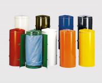 Kompakt-Abfallsammler mit Doppeltür, feuersicher Gelb