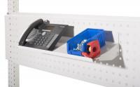 Schrägboden für Werkzeug-Lochplatten Lichtgrau RAL 7035