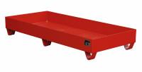 Auffangwannen für Innenlagerung, LxBxT 1800 x 800 x 275 mm Ohne Gitterrost / Feuerrot RAL 3000