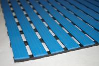 Bodenmatte aus Hart-PVC, 12,0 mm, Lfdm. Blau / 1000