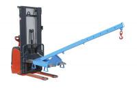 Lastarm auszziehbar, für Gabelstapler Lichtblau  RAL 5012 / 125-1000
