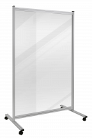 Economy Trennwand, transparent, Breite 1200 mm 1800