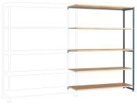 Großfach Anbauregale PLANAFIX Premium, Höhe 2500 mm, einseitige Nutzung 500 / Graugrün HF 0001
