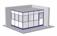 Hallenbüro ohne Boden, 2-seitige Ausführung 3045 / 3045