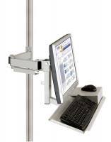 Monitorträger mit Tastatur- und Mausfläche 75 / Lichtgrau RAL 7035