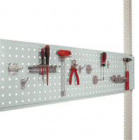 Werkzeug-Lochplatten/Lochblech für Stahl-Aufbauportale Lichtgrau RAL 7035 / 1500