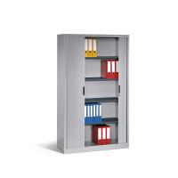 C+P Büro-Sideboard Omnispace mit Rollladen, BxT 1000 x 420 mm 1030 / Anthrazit RAL 7021