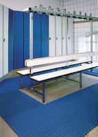 Bodenmatte aus Weich-PVC, 12 mm hoch Grau / 1000