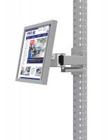 Monitorträger für MULTIPLAN / PROFIPLAN, Doppelgelenk 500 mm 75 / Lichtgrau RAL 7035