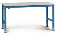 Grundarbeitstisch Kunststoff 28 mm UNIVERSAL Standard, leitfähig 1500 / 1000 / Brillantblau RAL 5007