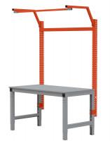 MULTIPLAN Stahl-Aufbauportale mit Ausleger, Anbaueinheit Rotorange RAL 2001 / 1000