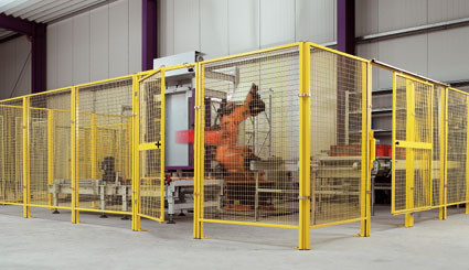 Mittelpfosten für Trennwand-System Maschinenschutz