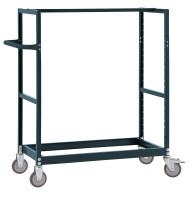 Leichter Grundrahmen für Etagenwagen Varimobil, Höhe 1250 mm Anthrazit RAL 7016 / 1500 x 600
