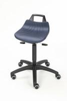 Drehhocker mit großer Sitzfläche, aus PU-Integralschaum Rollen