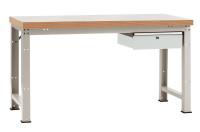 Komplettwerkbank Multiplex 40 mm PROFI Modell 2 Lichtgrau RAL 7035 / 1500