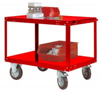 Leichter Tischwagen TRANSOMOBIL Rubinrot RAL 3003 / 1200 x 700