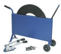 Spann- und Verschlussgerät für Stahlband-Umreifungsset