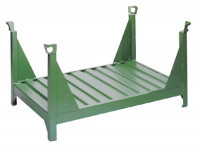 Stapelbehälter für Langgut, ohne Wänden Grün / 1200 x 800