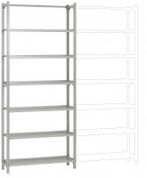 REGISTRA Archiv Standard Einfach-Grundregal, beidseitige Nutzung, Höhe 1900-2600 mm 2250 / Beidseitig (Längsverbinder)