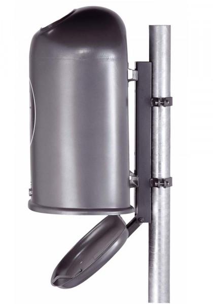 Ovaler Abfallbehälter mit Bodenentleerung