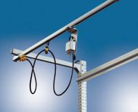 Gerätewagen für Arbeitstische und Werkbänke Für einzelne Druckluftwerkzeuge, mit Schlauchhalter
