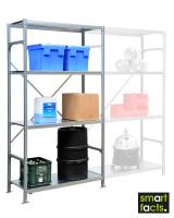 Fachbodenregal SMARTFACTS, Grundregal mit Stahlböden, Höhe 2500 mm 500 / 2500