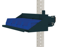 Sichtboxen-Regal-Halter-Element für PROFIPLAN Werkbänke Anthrazit RAL 7016