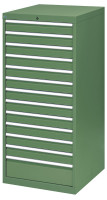 Schubfachschrank MAXTEC stationär, 12 x 100 , 1 x 200 mm Vollauszug 100%, 180 kg / Lichtblau RAL 5012