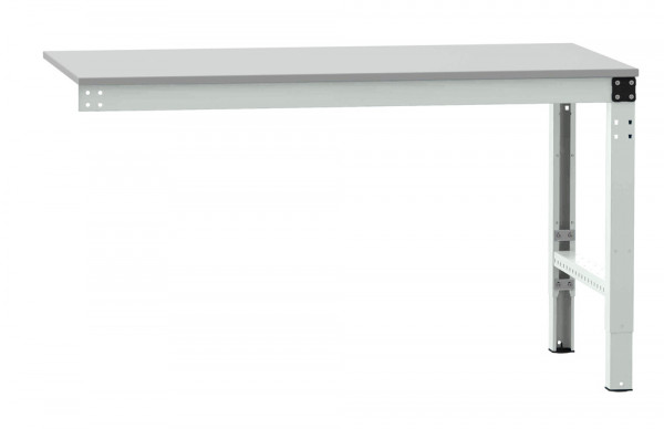 Anbauarbeitstisch MULTIPLAN Spezial, Melamin lichtgrau 22 mm