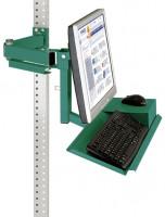 Monitorträger mit Tastatur- und Mausfläche Graugrün HF 0001 / 100
