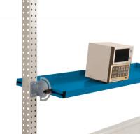 Neigbare Ablagekonsolen für Stahl-Aufbauportale Brillantblau RAL 5007 / 1750 / 495