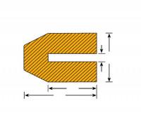 Aufsteckbare Warn-und Schutzprofile/Prallschutz für Profilschutz 40 / Trapez