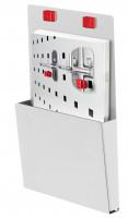 RasterPlan/ABAX Prospekthalter Lichtgrau RAL 7035 / für DIN A5