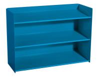 Sichtboxen-Regal Lichtblau RAL 5012
